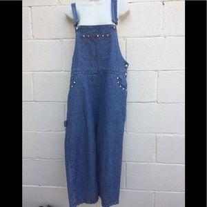 Carole Little overalls blue soft jeans 14 petite